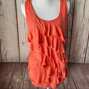 Maurices ruffle tank top plus size 0